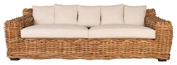 Classic Home Furniture - Delano Rattan Sofa - 53006804ELP traditional-sofas