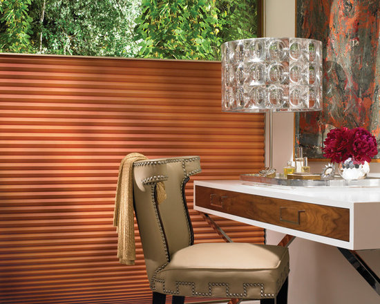 Duette Architella Honeycomb Shades - Duette Architella Honeycomb Shades by Hunter Douglas, shown here with the Top-Down/Bottom-Up feature and EasyRise operating system!