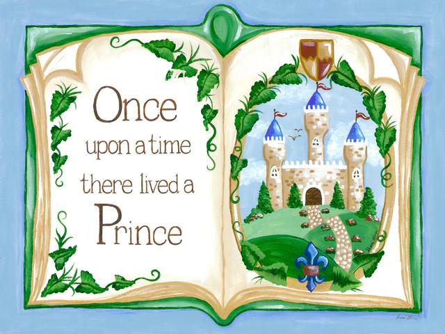 Prince Wall Decor,  Royal Art for Kids, Once Upon a Time Storybook traditional-kids-wall-decor