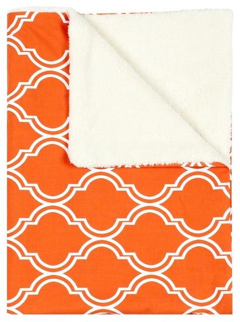 Contemporary Persimmon Baby Blanket contemporary-baby-bedding
