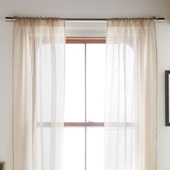 sheer linen window panel modern curtains by west elm