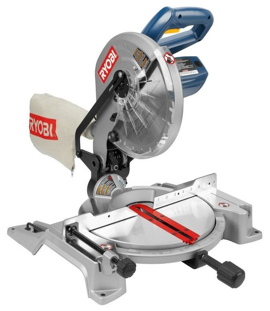 Ryobi 14 amp 10 inch compound miter saw contemporary power tools
