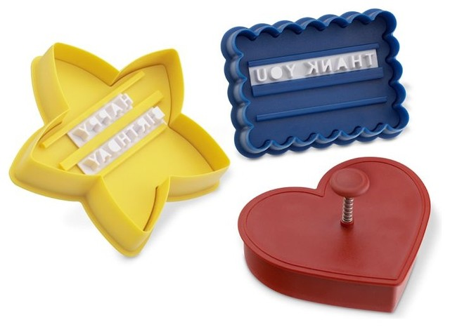 Message-in-a-Cookie Cutters modern kitchen tools