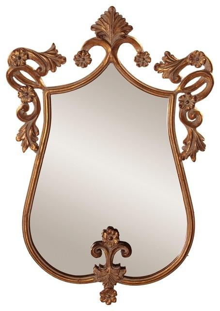 Camilla Antique Gold Mirror traditional-mirrors