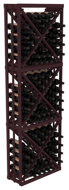 Full Height Diamond Bin Kit in Redwood, Burgundy contemporary-wine-racks