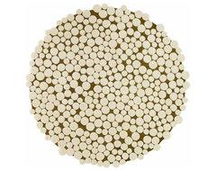 Gandia Blasco - Champinones Round Wool Rug modern-rugs