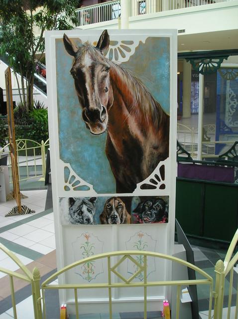 Hand Painted Screen Door Horse Jpg