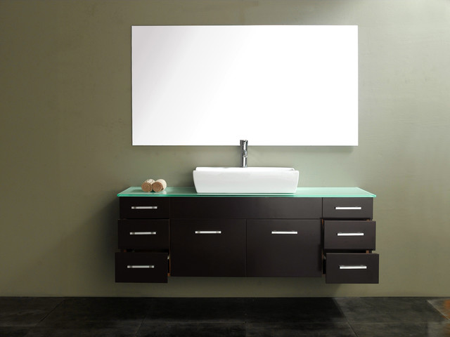 60 Vinova Single Vanity Espresso Modern Bathroom Vanities And Sink Consoles San Diego