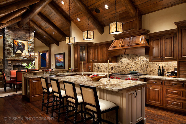 Whitefish montana private lake house remodel rustic for Creative interior design kitchen