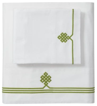 Grass Gobi Embroidered Sheet Set traditional sheet sets