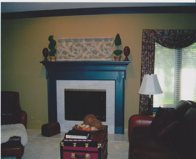 Fireplace Reface - Traditional - chicago - by Anne Honan Interiors