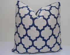 Navy Blue Casablanca Pillow by Zourra Designs mediterranean-decorative-pillows
