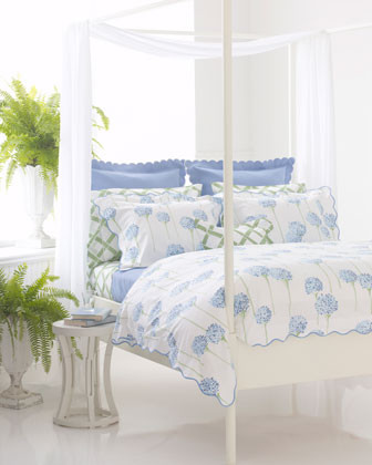 Lulu DK for Matouk Charlotte Bed Linens Standard Floral Sham traditional-pillowcases-and-shams