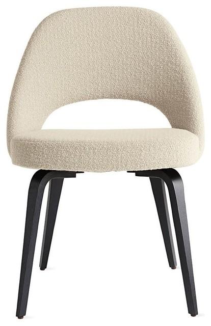 Saarinen Executive Side Chair Wood Legs Modern