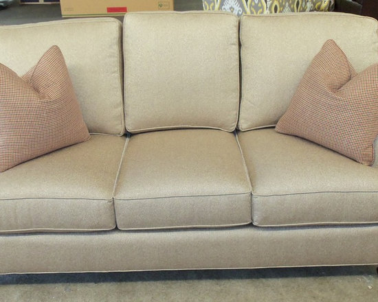 Customer Custom Orders - King Hickory Chatham Sofa - You Choose (4) Arm Styles and Skirt or Legs.  You Choose the Fabric
