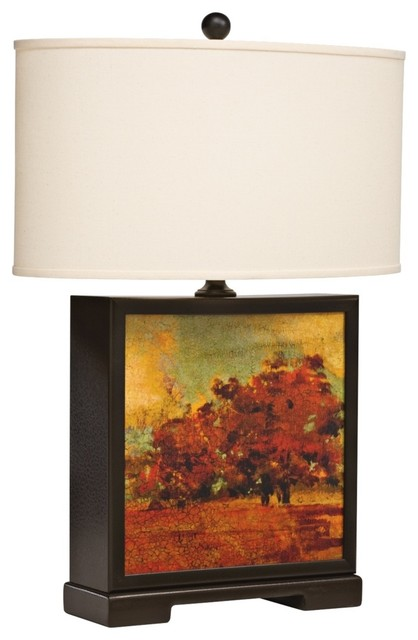Country - Cottage Kichler Vivido Autumn Table Lamp With Linen Shade traditional-table-lamps