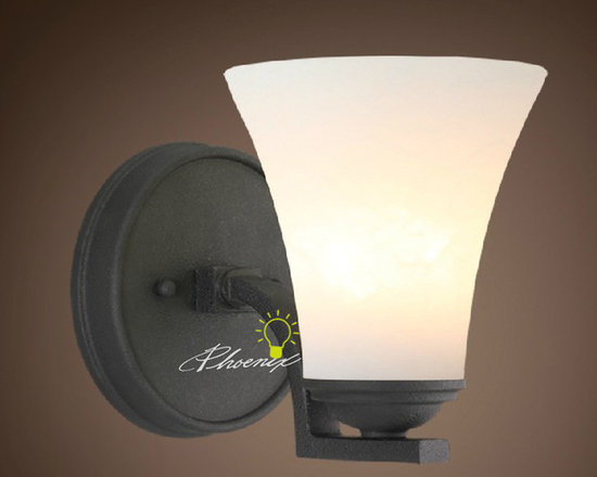 Simple Wall sconce 02l - Size: D35cm X H50cm