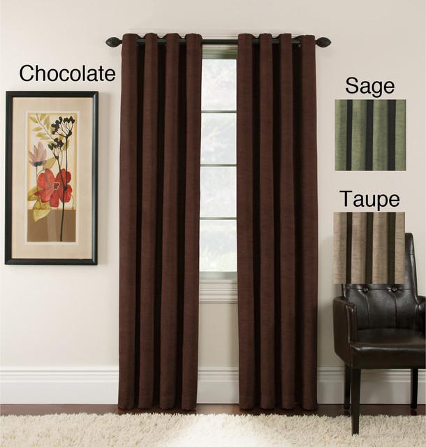 Antique Velvet 63-inch Blackout Grommet Top Panel Pair contemporary-curtains