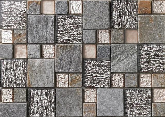 Glass Stone Mosaic Kitchen Backsplash Tiles Glass Wall Tiles Sgmt052 Modern Mosaic Tile