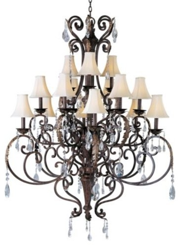 Augusta Chandelier Crystal/Shade Option traditional-chandeliers