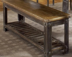 Farmhouse Bench - Walnut modern-dining-benches