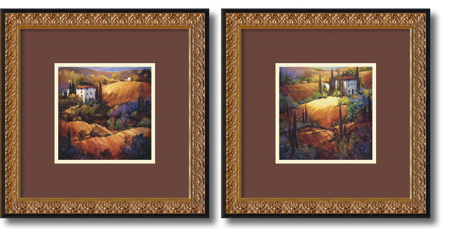 Tuscany - Set by Nancy O'Toole traditional-prints-and-posters