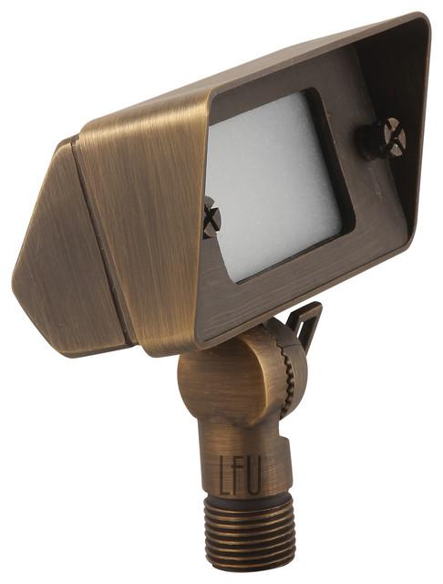 Landscape lighting led 35w g4 die cast brass flood light for Led landscape lighting spotlights