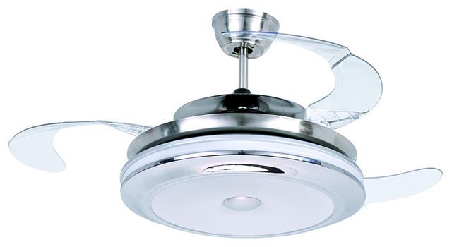 satin nickel led ceiling fan modern ceiling fans by parrotuncle. Black Bedroom Furniture Sets. Home Design Ideas