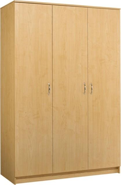 Akadahome Tall 3 Door Wardrobe Cabinet Modern Storage