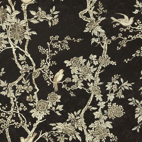 Marlowe Floral - Ebony - Floral Wallpaper asian-wallpaper