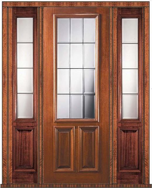 Prehung patio sidelights door 96 mahogany patio 2 3 lite for Patio door with sidelights