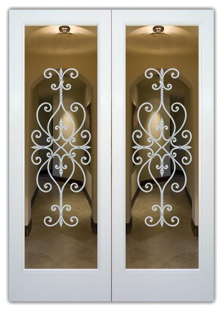 Interior Glass Doors - Frosted Glass - Cordoba mediterranean-interior-doors