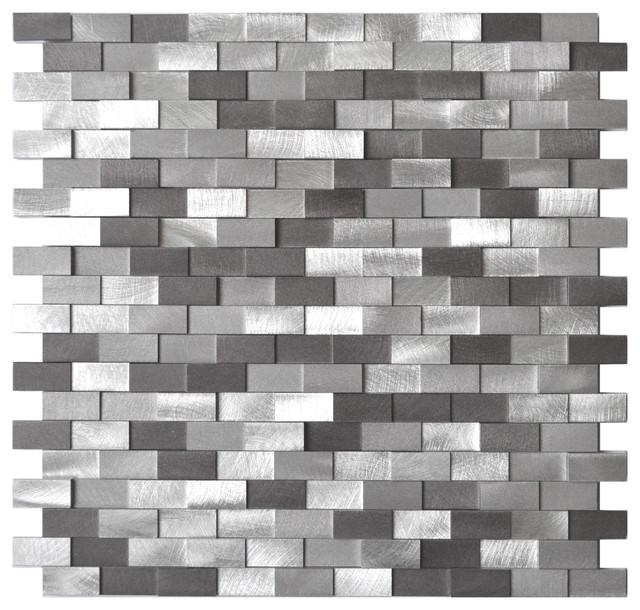 Sample Black Gray Pattern Aluminum Stainless Mosaic Tile