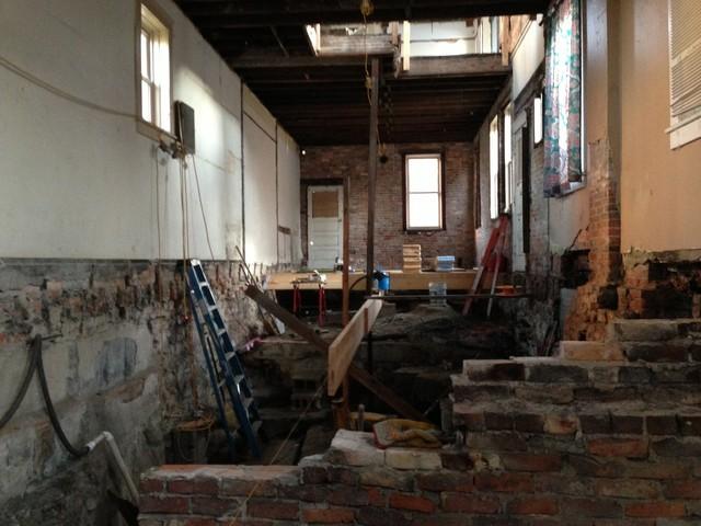 Before interior of Sandusky home industrial
