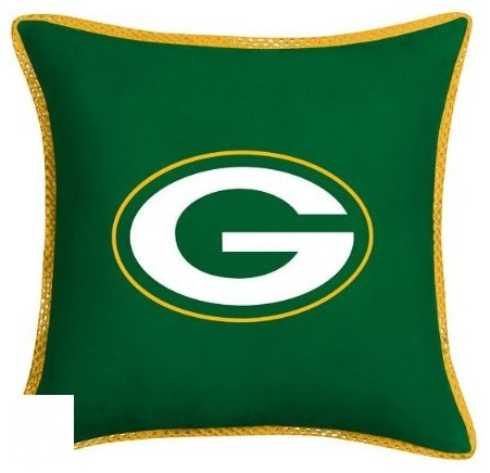 Green Bay Packers NFL MVP Micro Suede Toss Pillow game-room-and-bar-decor