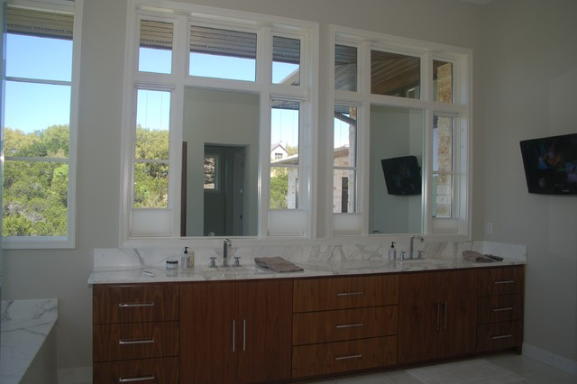 Artisan Stone Collection Calacatta Gold marble bathroom modern-vanity-tops-and-side-splashes
