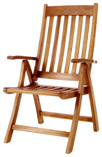TEAK Folding Arm Chair - Traditional - Outdoor Folding Chairs - by All ...