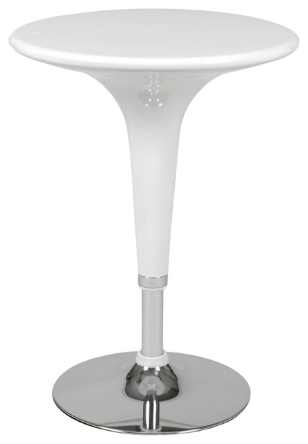 Clyde Bar/Counter Table-White/Chrome contemporary-bar-stools-and-counter-stools