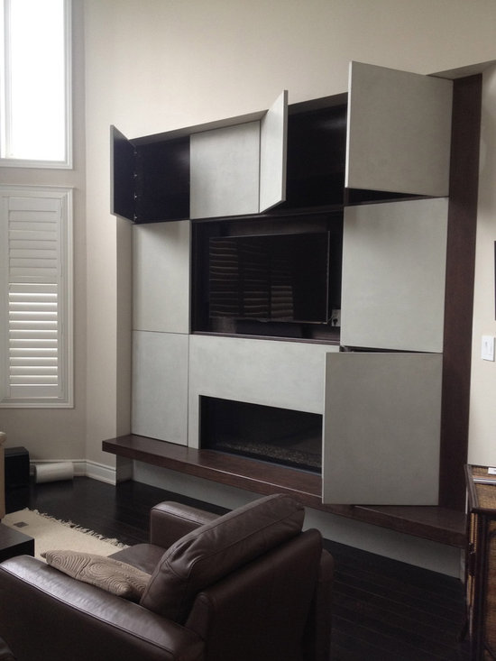 Concrete feature wall -