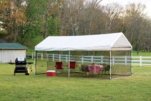 """Canopy Screen Kit, 10' x 20', Black, Fits 1-3/8"""" and 2"""" Frame modern-outdoor-products"""