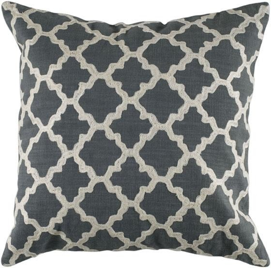 Keyes Decorative Pillow, Charcoal/White modern pillows