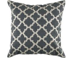 Keyes Decorative Pillow, Charcoal/White modern-decorative-pillows