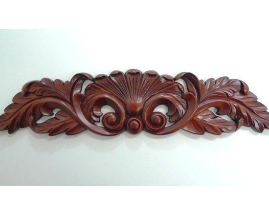 O'Neil Cherry Decorative Onlay with Acanthus Design - O'NEIL CHERRY, DECORATIVE ONLAY ACANTHUS DESIGN.