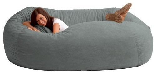 Fuf Extra Extra Large Bean Bag Sofa modern-living-room-chairs