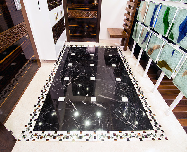 Mother of pearl border strip floor bangalore india for Bathroom tile designs in india