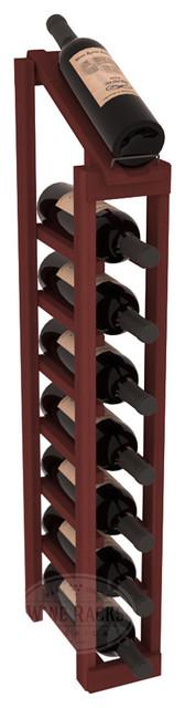 1 Column 8 Row Display Top Kit in Redwood, Cherry Stain contemporary-wine-racks