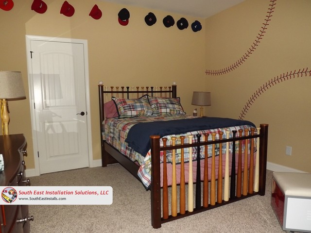 Baseball Themed Bedroom Bedroom Other Metro By South East Installation