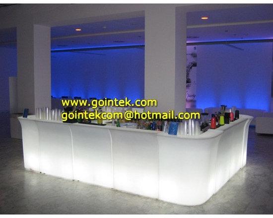 L Shape LED Bar Counter With Light Color Change -
