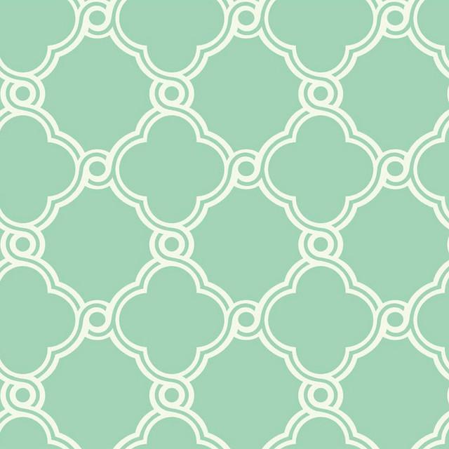 Trellis Wallpaper Mint Green White Double Roll contemporary-wallpaperMint Green Wallpaper