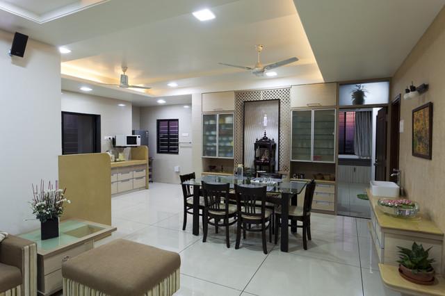 TOP FLOOR SINGLE FLAT contemporary-dining-room